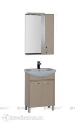 Набор мебель для ванной Aquanet Донна 60 светлый дуб