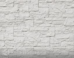 Декоративный гипсовый камень Сланец Алпачи белый