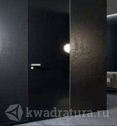 Скрытая межкомнатная дверь ProfilDoors 1LK Черный люкс ABS