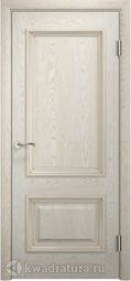 Межкомнатная дверь Двери и К 65 Эрика ДГ дуб беж золотая патина