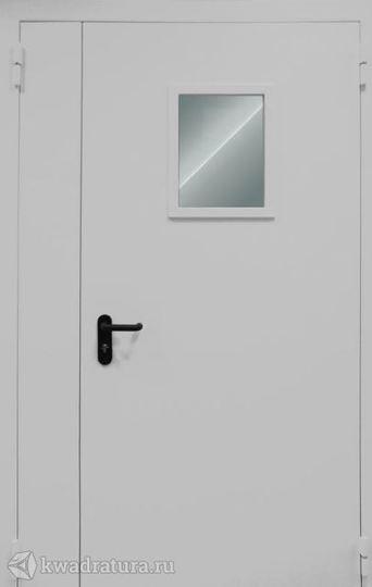Дверь противопожарная со стеклом ДПМ EI60-02 Ral 9016