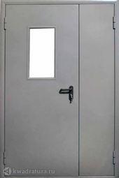 Дверь противопожарная со стеклом ДПМ EI60-02 Ral 7035
