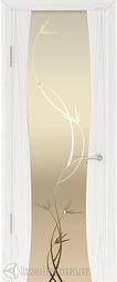 Дверь Кипарис 2 СТ Белое Лиана Дуб белый жемчуг 700*2000