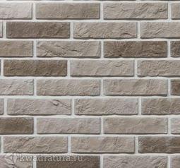 Декоративный гипсовый камень Дикий кирпич серый