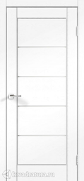 Межкомнатная дверь VellDoris Premier 1 Ясень белый стекло мателюкс