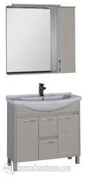 Набор мебель для ванной Aquanet Донна 90 беленый дуб